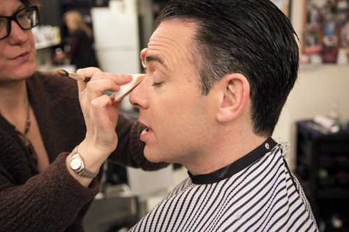 Brian Shactman '94 with makeup artist