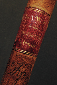 "Spine of ""Laws of the Cherokee Nation"""
