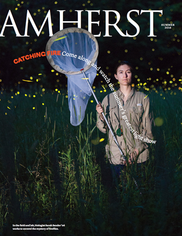 Amherst Magazine cover - Summer 2016 issue