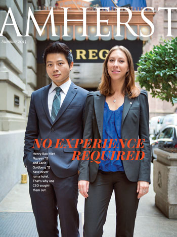 "Cover of Summer 2013 ""Amherst"" magazine"