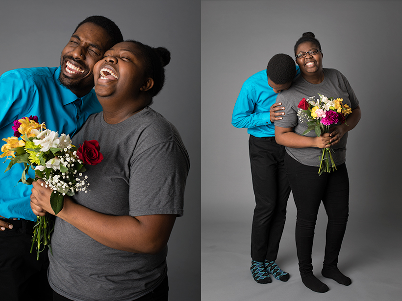 Two portraits of Amir Hall and Nayan Mullings