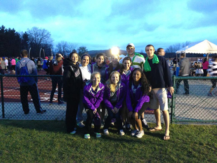 Annika Nygren '16 with her field hockey team at Relay for Life