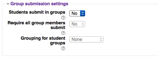 Assignment Group Sub settings