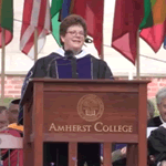 President Martin delivers the 2016 Commencement address