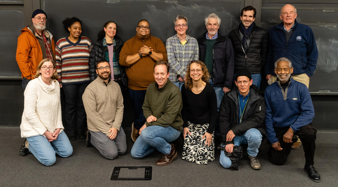 The Biology faculty posing as a group