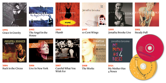CD covers for 11 of Brook's albums