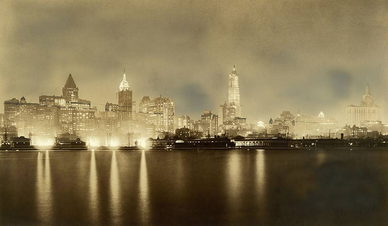 New York City skyline, 1917