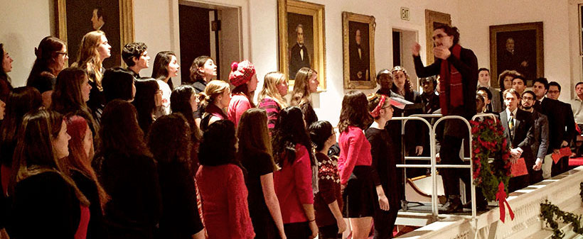 Choir performing in Johnson Chapel