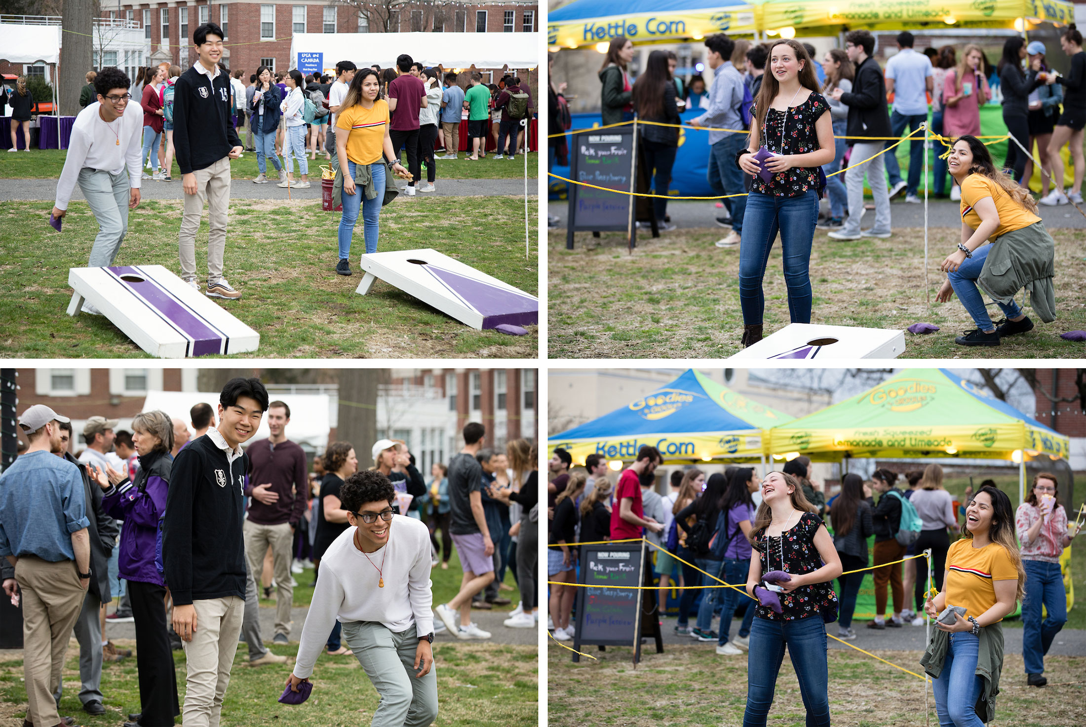 Students at City Streets festival, Amherst College