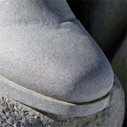A photo of a statue's shoe