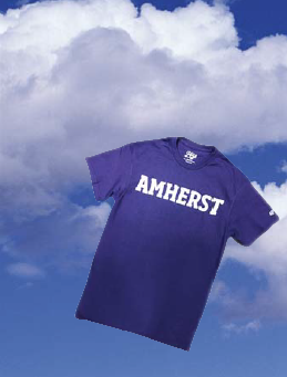 An Amherst College t-shirt