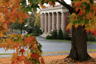 Converse Hall in autumn