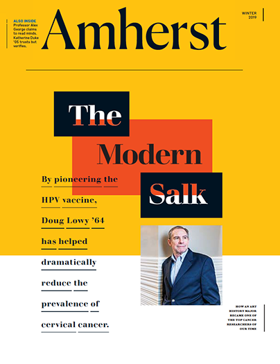 Cover image of Amherst magazine, Winter 2019