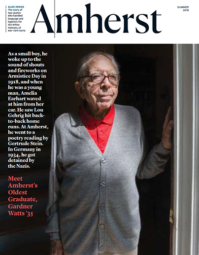 Cover of Amherst magazine, summer 2018