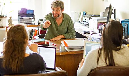Prof. Daniel Barbezat in his office