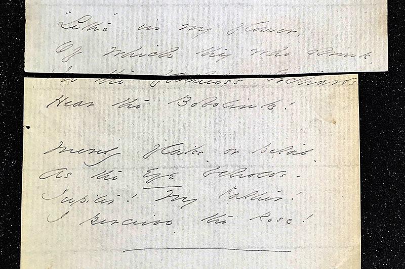Emily Dickinson manuscript