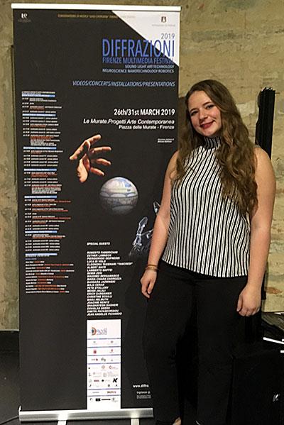 Christianna Mariano at the Diffrazioni Multimedia Festival in Florence, Italy