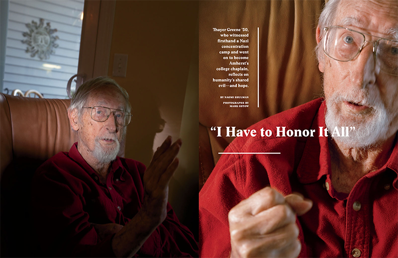 "A magazine spread with an older man with white hair on both pages and the headline ""I Have to Honor It All"""