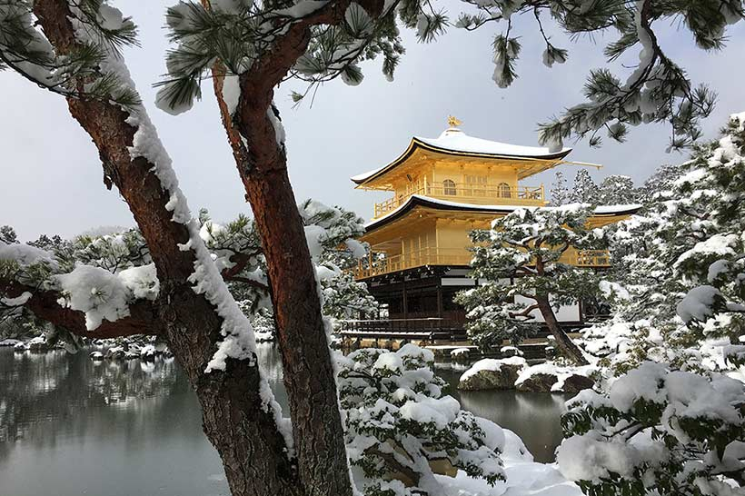 Kyoto's Golden Pavilion After First Snow, by Mei Zhou '18