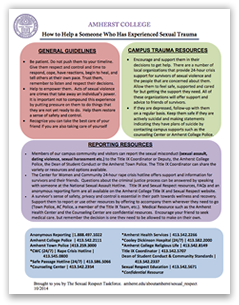 How to Help a Someone Who Has Experienced Sexual Trauma: Click to view PDF