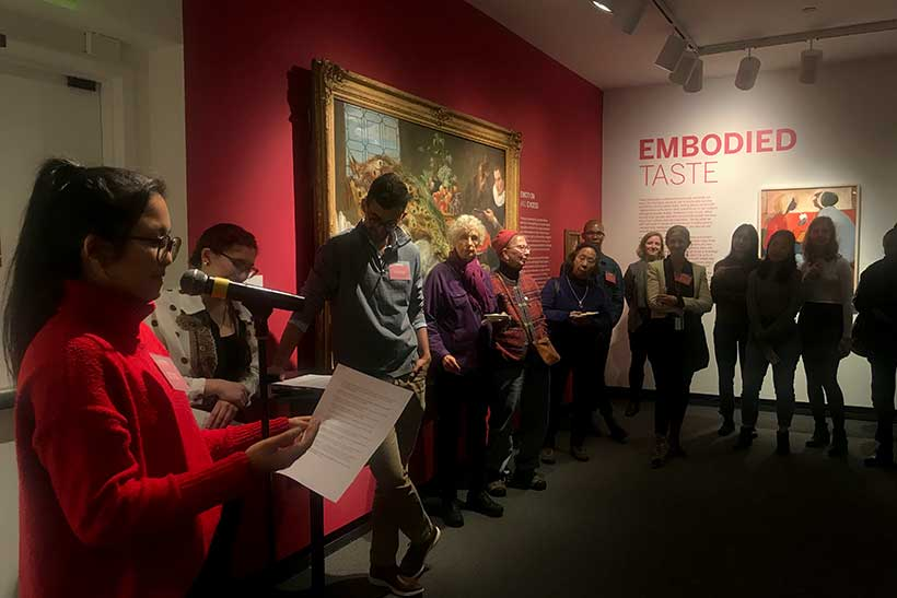 Reception for the Embodied Taste exhibit at the Mead Art Museum
