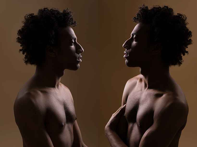 Jonathan Jackson '19 standing in profile