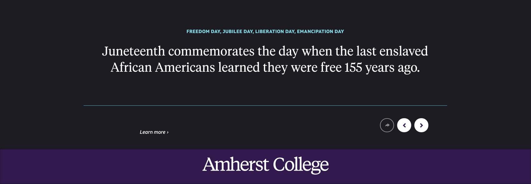 Juneteenth commemorates the day when the last enslaved African Americans learned they were free 155 years ago.