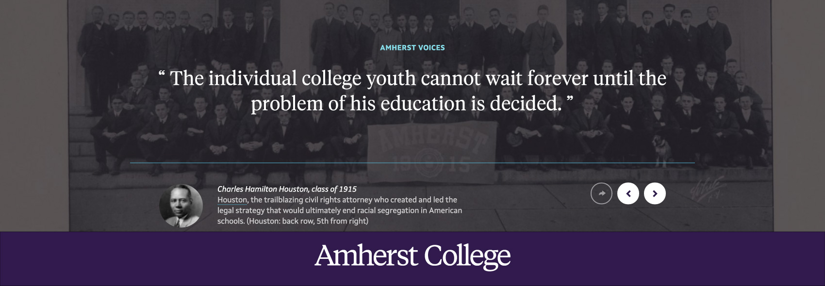 old photo of Amherst Class of 1915