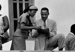 Martin Luther King and Coretta Scott King in Ghana 1957
