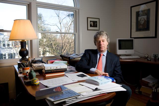Professor Lawrence Douglas in his office