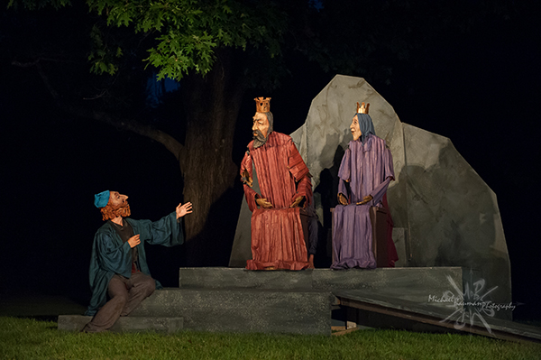 Bard, King and Queen puppets