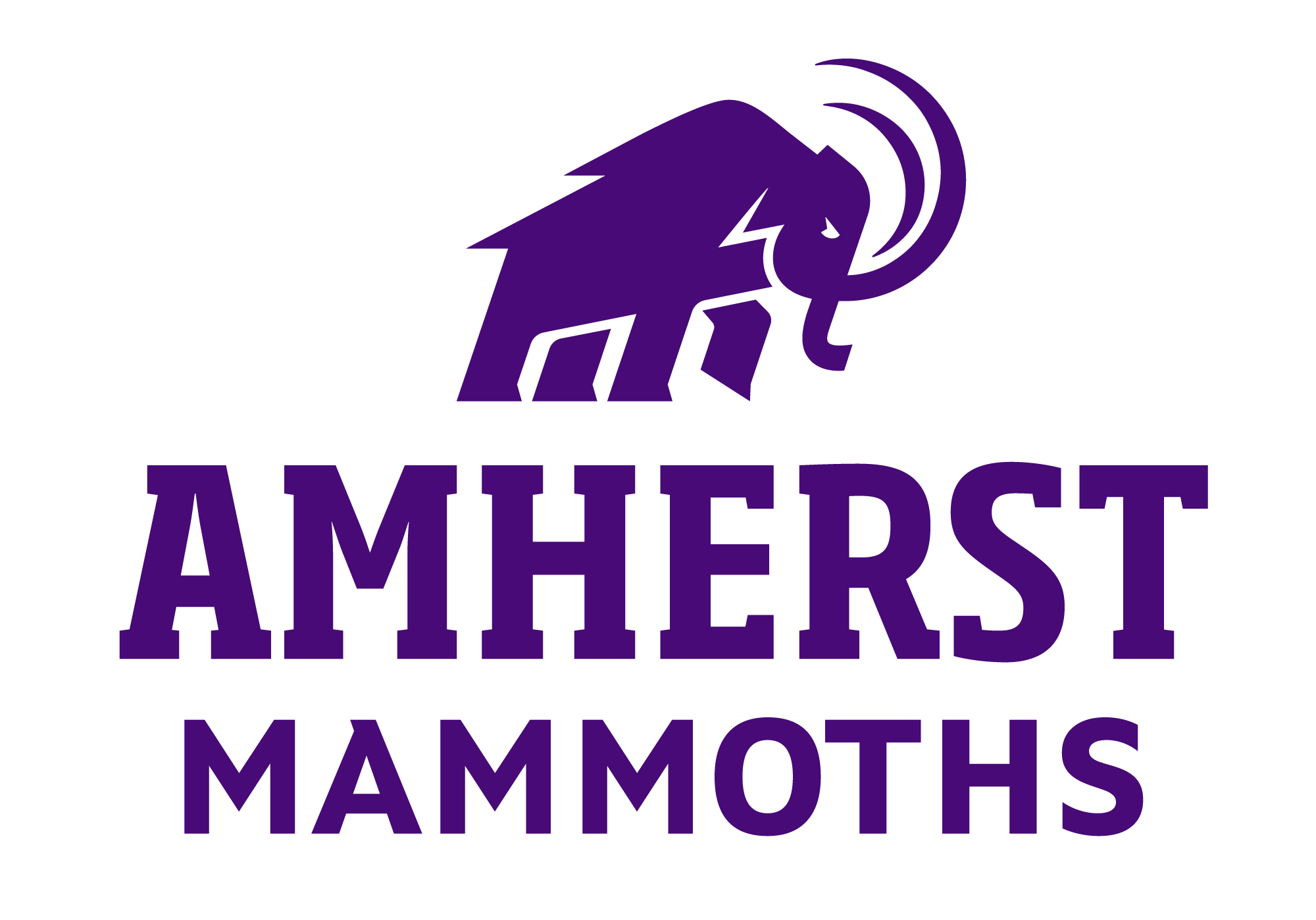 Mammoth logo with caption Amherst Mammoths