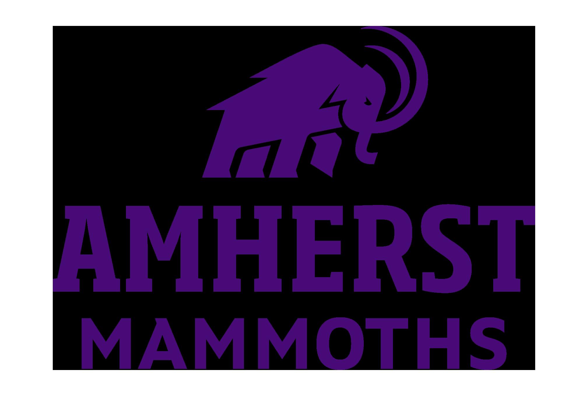 Mammoth logo with caption Amherst Mammoths