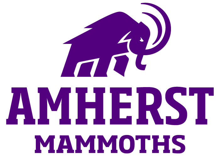 Purple Mammoth logo above the words Amherst Mammoths
