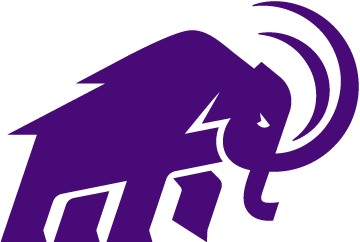 Mammoth logo in purple