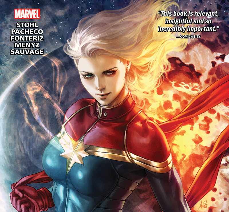 A comic book cover with a superhero surrounded by fire