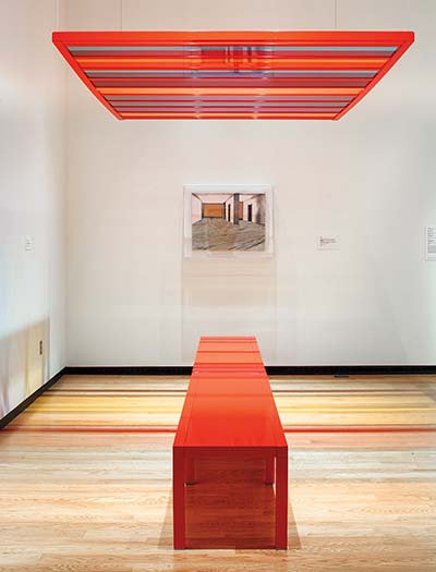 Liam Gillick's interactive Discussion Bench Platform Red (2010)