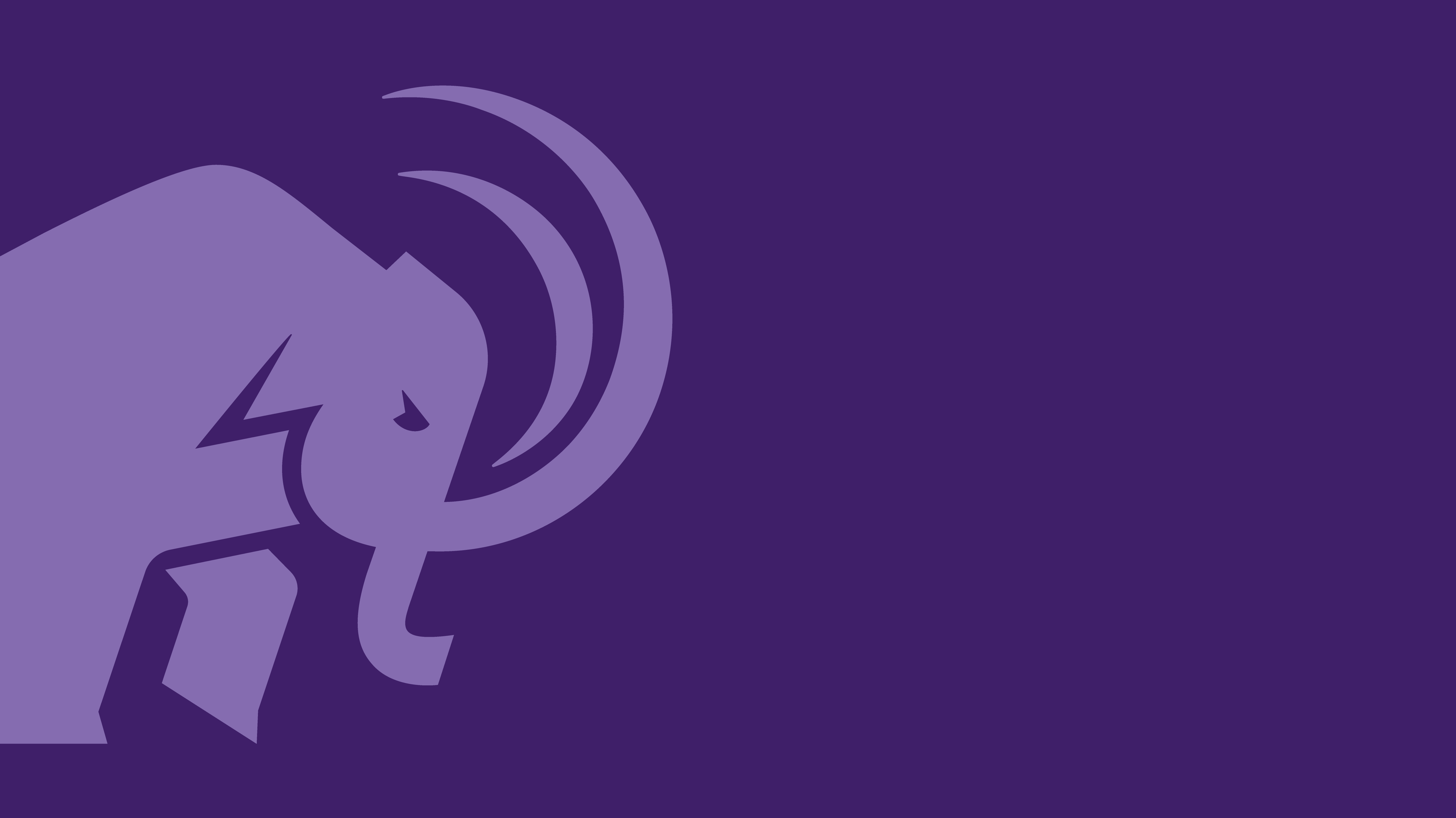 Light purple mammoth cropped logo on dark purple background