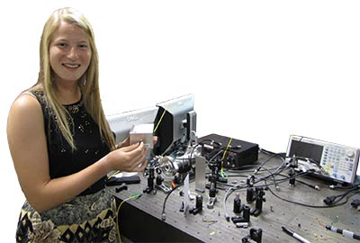 Amherst student conducting physics research
