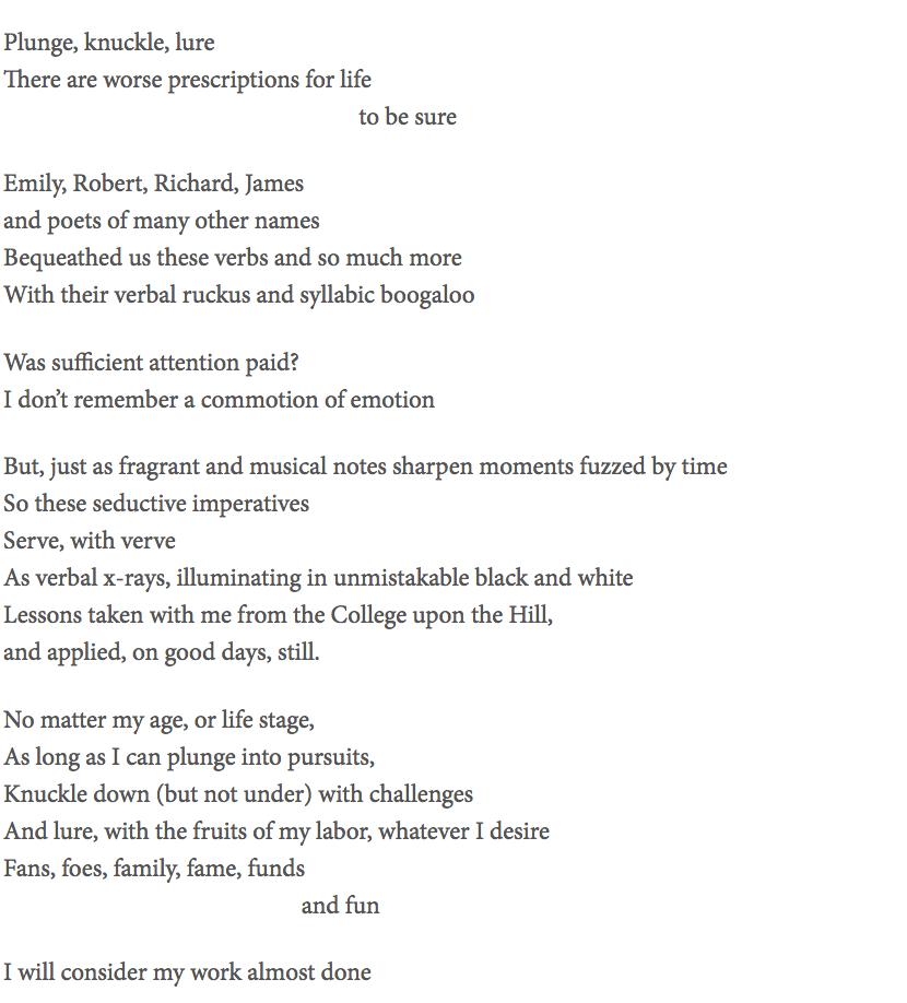 A poem by Alessandra Bianchi Herman '86
