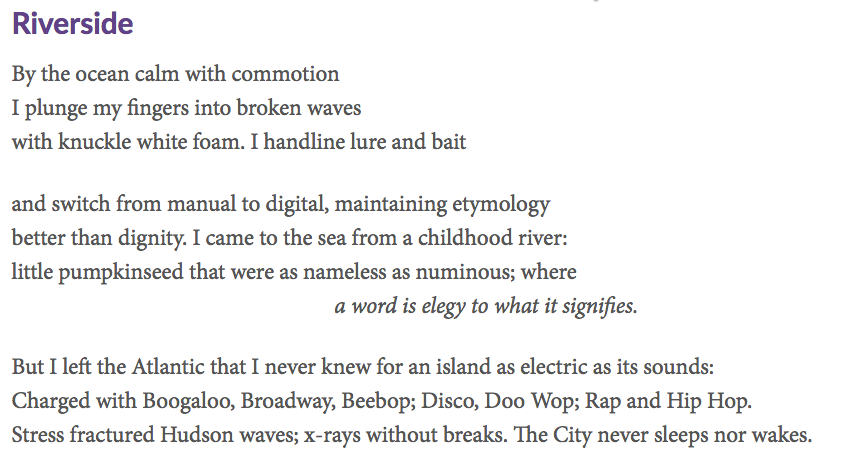 Riverside, a poem by Benjamin Dickman