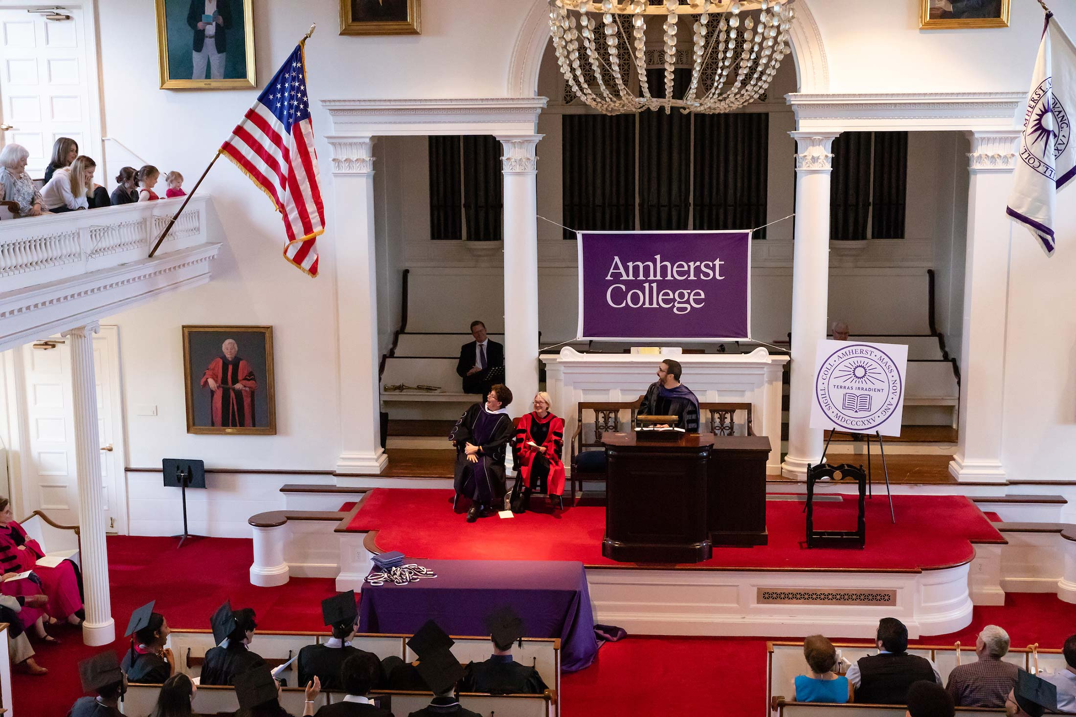 Senior Awards Assembly in Johnson Chapel at Amherst College