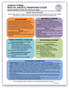 Sexual Assault Response Guide: Click to view PDF
