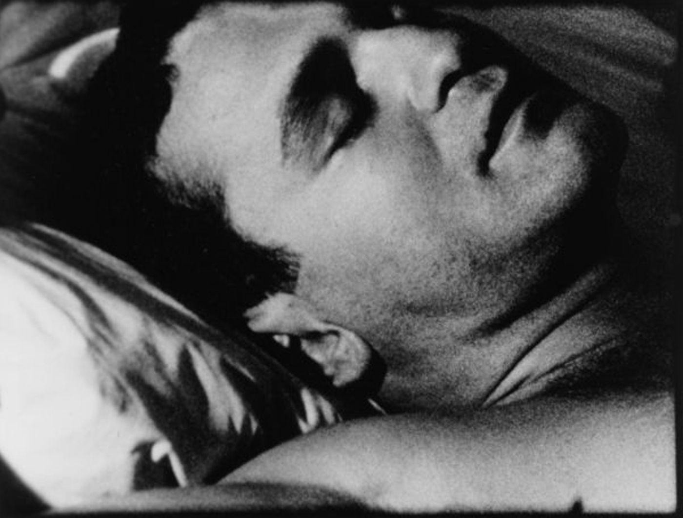 Still from Sleep film by Andy Warhol