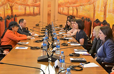 Deputy Speaker of Swedish Parliament, Esabelle Dingizian Holds Meeting on Gender Policy Issues in Georgian Parliament in April 2018