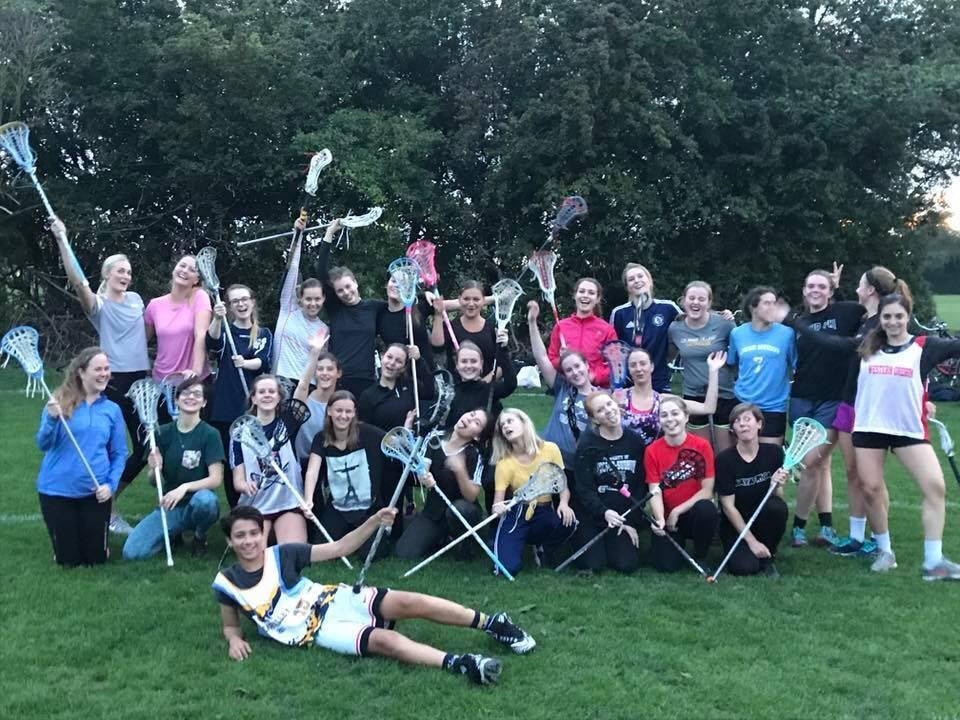 Talia Land with lacrosse team in Copenhagen