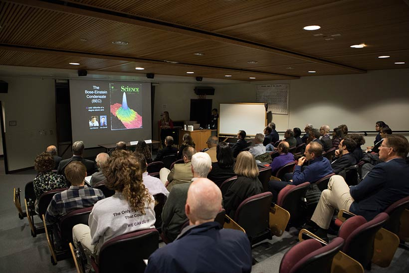 A presentation in Merrill Science Center.