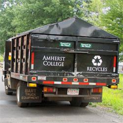 An Amherst recyling truck