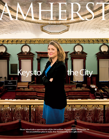 Winter 2015 cover: Alicia Glen '88