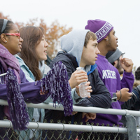 Student spectators at a game
